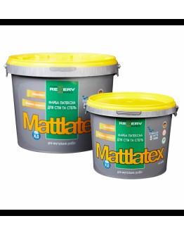 Краска латексная белоснежная для стен и потолков MATTLATEX TM KHIMREZERVPRO
